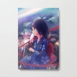Miyamizu Mitsuha Metal Print