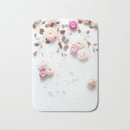 SPRING FLOWERS IN BLUSH 1 Bath Mat