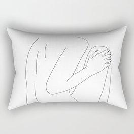 Nude figure line drawing illustration - Dustee Rectangular Pillow