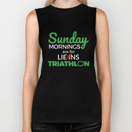 Sunday Mornings Are For Triathlon Biker Tank