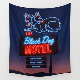 The Black Dog Motel Wall Tapestry