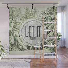 Let It Snow Wall Mural