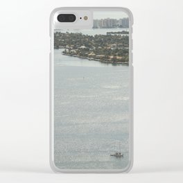Biscayne Bay Skyline Clear iPhone Case