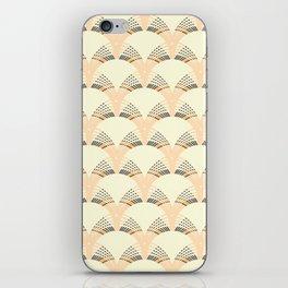 Peach art deco fan pattern iPhone Skin