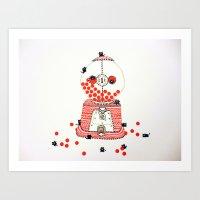gumball Art Prints featuring Gumball Machine. by ruffgaws