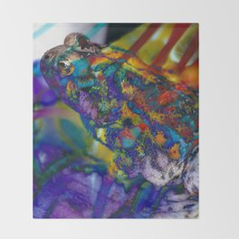 Fire Toad Throw Blanket