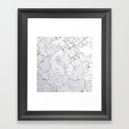 Plan abstract Framed Art Print
