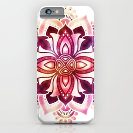 Ornate Lotus Flower Mandala iPhone Case