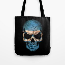 Dark Skull with Flag of Honduras Tote Bag