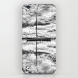 Silver Sailboat iPhone Skin