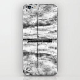 Silver Sailboat iPhone Skin