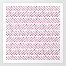 Summer Day Herringbone Art Print