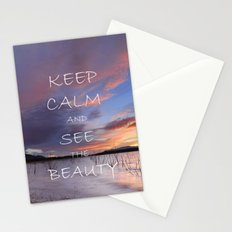 Keep calm and see the beauty Stationery Cards