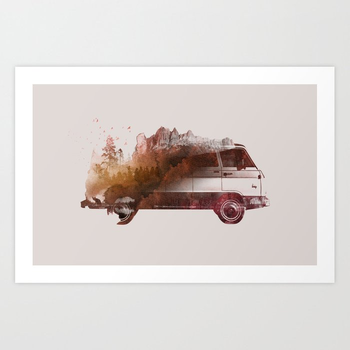 Discover the motif DRIVE ME BACK HOME by Robert Farkas as a print at TOPPOSTER