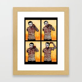 The Zombie Mime! Framed Art Print