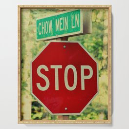 STOP - CHOW MEIN LANE Serving Tray
