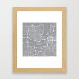 Kansas City Map, Kansas USA - Pewter Framed Art Print
