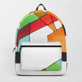 Bright Light Architectural Illustration Backpack