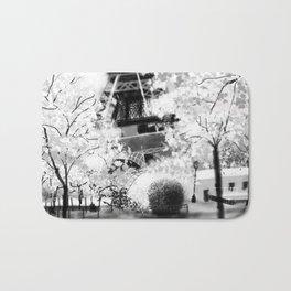 Eiffel Tower B&W Bath Mat