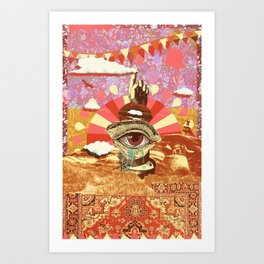AFTERNOON PSYCHEDELIA REDUX Art Print