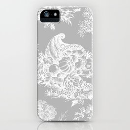 toile tradition grey iPhone Case