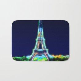 Glowing Eiffel Tower Bath Mat