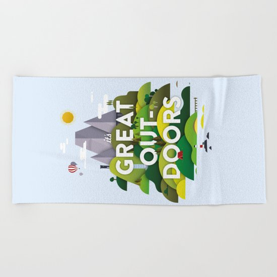 It's Great Outdoors Beach Towel