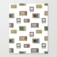 tv Canvas Prints featuring television by Kelly Tucker
