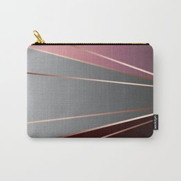 Pink, brown, grey, Golden Carry-All Pouch