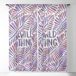 Wild Thing – Indigo Palette Sheer Curtain