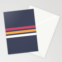 Classic Retro Stripes 2 Stationery Cards