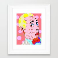 pee wee Framed Art Prints featuring Pee Wee by Ricky Sencion