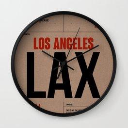 LAX Los Angeles Luggage Tag 1 Wall Clock