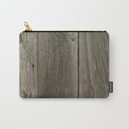 Weathered Barn Wood Door Carry-All Pouch