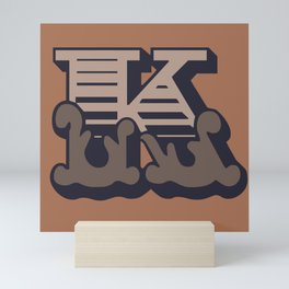 'The letter K' Design Motif Mini Art Print