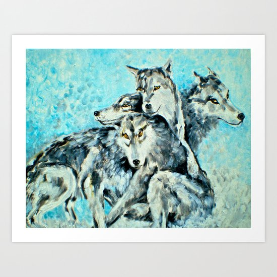 Our Brothers, the Wolves Art Print
