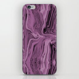 Framed  magenta marble iPhone Skin