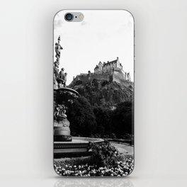 Edinburgh Castle B&W iPhone Skin
