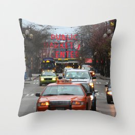 Pike Place Market Photography Print Throw Pillow