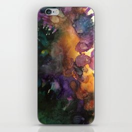 Abstract in Purple and Orange iPhone Skin