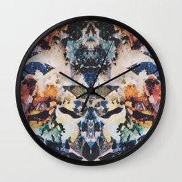 Rorschach Flowers 8 Wall Clock