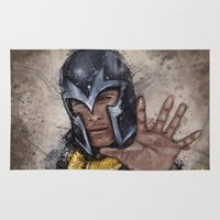 magneto Area & Throw Rugs featuring Magneto. by Emiliano Morciano (Ateyo)