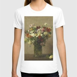 Henri Fantin-Latour - Flowers From Normandy T-shirt
