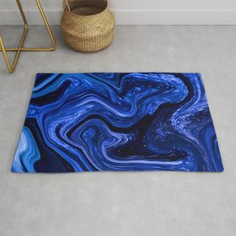 Marble Marbled Abstract Paint CLXVI Rug