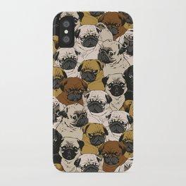Social Pugs iPhone Case