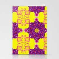 psychadelic Stationery Cards featuring Psychadelic Flora by Cynthia Squire