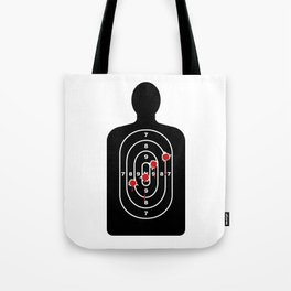 Human Shape Target With Bullet Holes Tote Bag