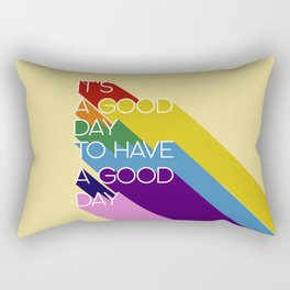 It's a good day - yellow Rectangular Pillow