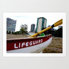 Save Me - English Bay Lifeguard Post Art Print