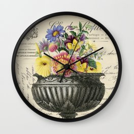 Urn and Posey Wall Clock